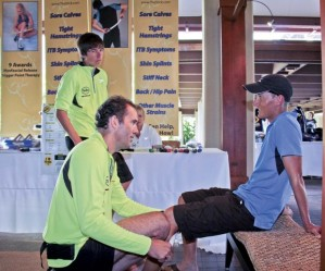 Front page article in the Garden Isle Newspaper on marathoners preparing for the Kauai Marathon